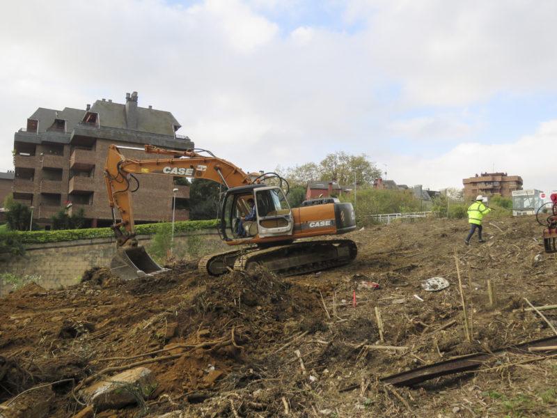 Obras en Aiete. Foto: Gobierno vasco