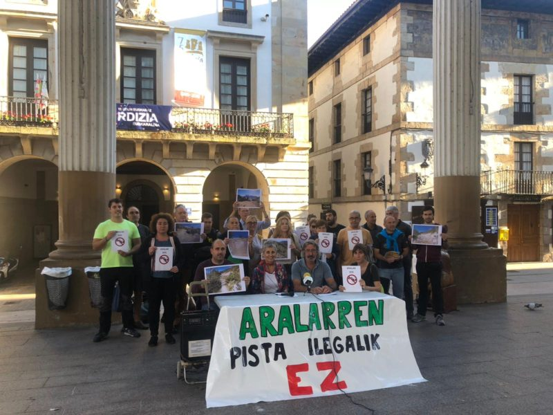 Los colectivos denunciantes en Ordizia en una imagen de 2018. Foto: Eguzki