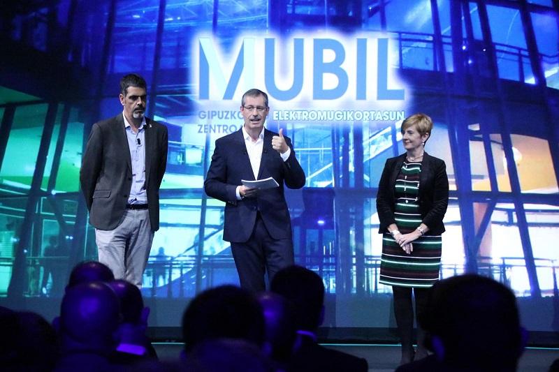 Eneko Goia, Markel Olano y Arantxa Tapia en la presentación de Mubilen 2018. Foto: Diputación