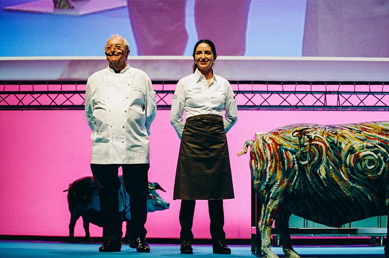 Juan Mari y Elena Arzak en una imagen de Gastronomika 2016. Foto: Santiago Farizano
