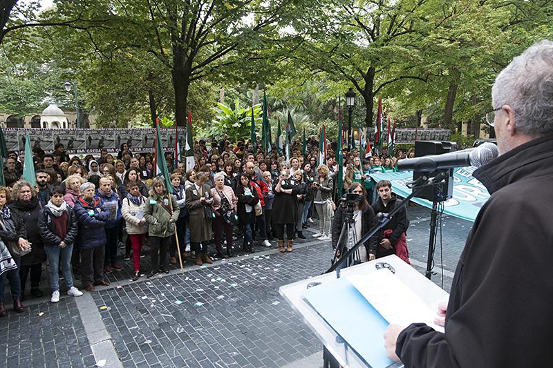 Protesta de las empleadas de las residencias. Fotos: Santiago Farizano