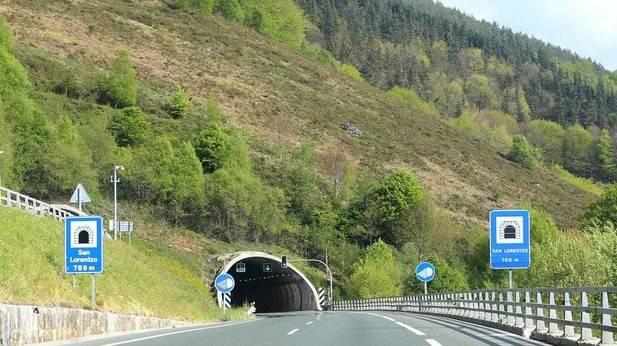 Túnel de San Lorenzo en la A15.