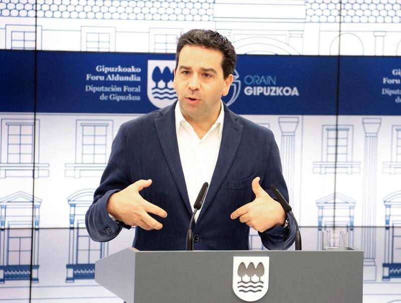 Imanol Lasa, portavoz foral. Foto: Diputación de Gipuzkoa.