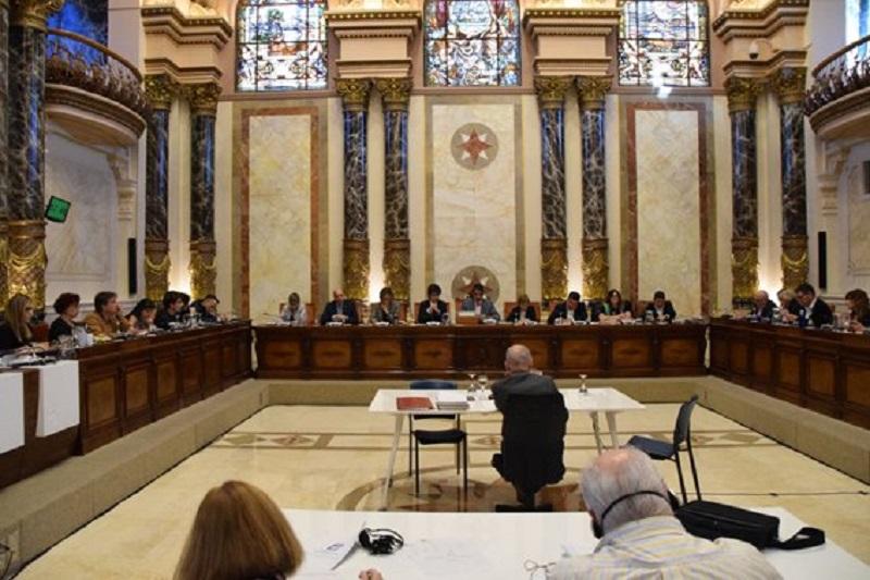 Salón de plenos del Ayuntamiento donostiarra. Foto: Donostiako Udala (imagen de archivo)
