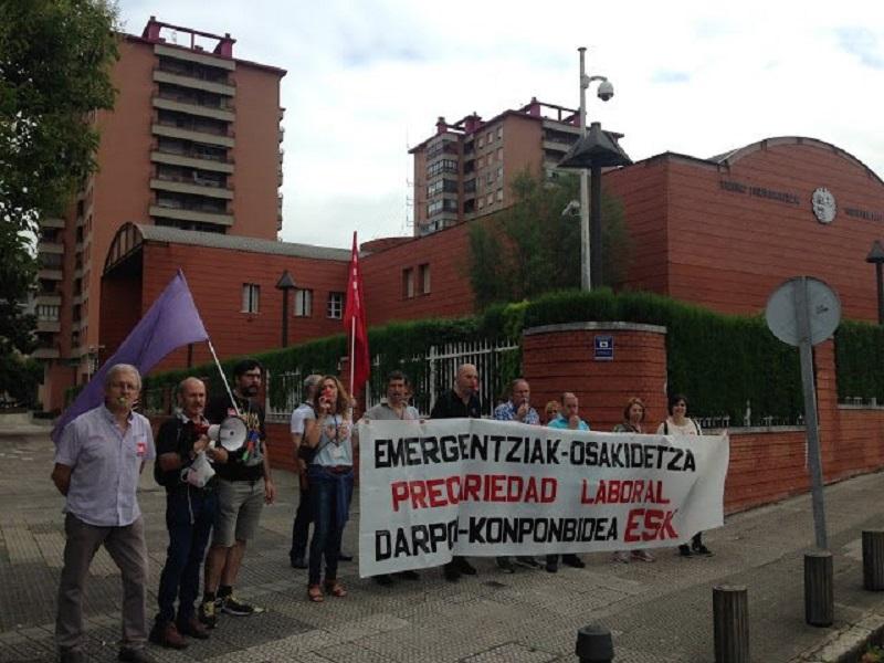 Protesta reciente del servicio de emergencias de Osakidetza. Foto: ESK