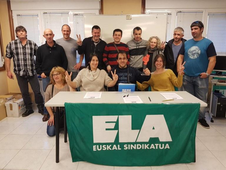 Fin de la huelga en Tolosaldea bus. Foto: ELA