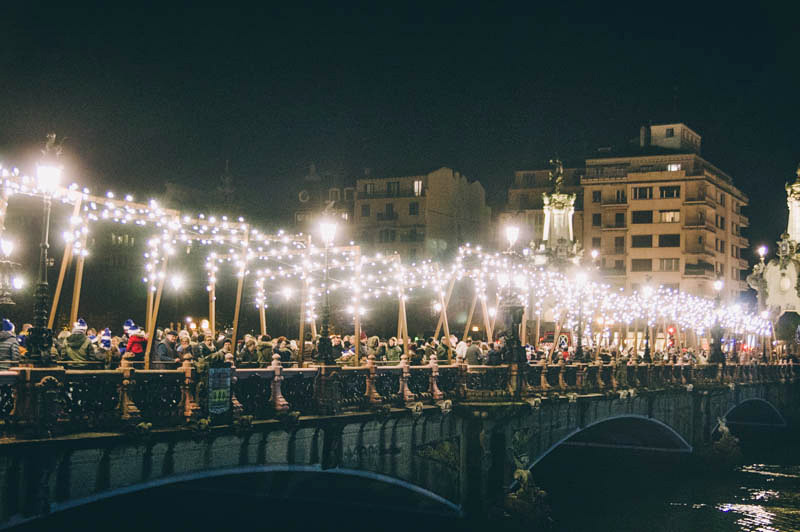 Imagen del encendido navideño el pasado año. Foto: Santiago Farizano