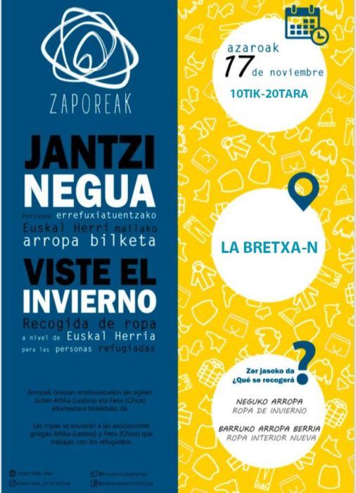 Uno de los carteles de la campaña 'Viste el invierno' de Zaporeak
