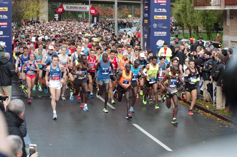Maratón de San Sebastián el pasado año. Foto: Santiago Farizano