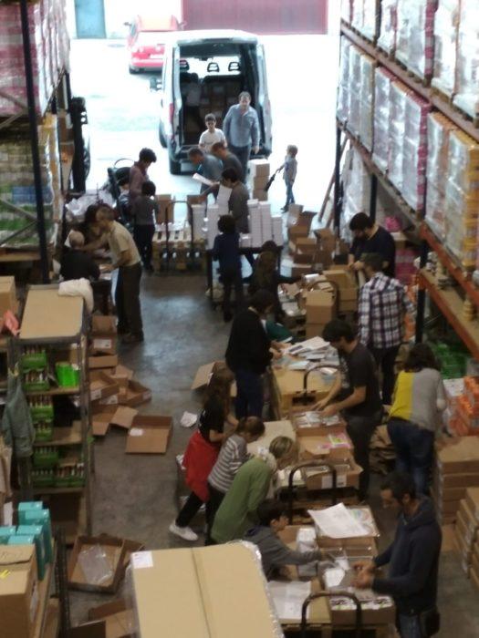 Imagen de GuraSOS preparando la campaña. Foto: GuraSOS