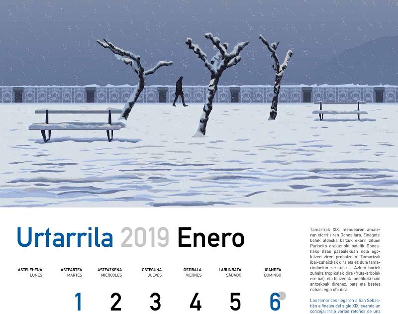 Calendario municipal de Donostia 2019. Foto: Ayto.