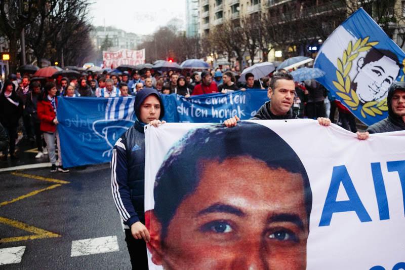 Manifestación en recuerdo de Zabaleta el sábado 8 de diciembre. Fotos: Santiago Farizano