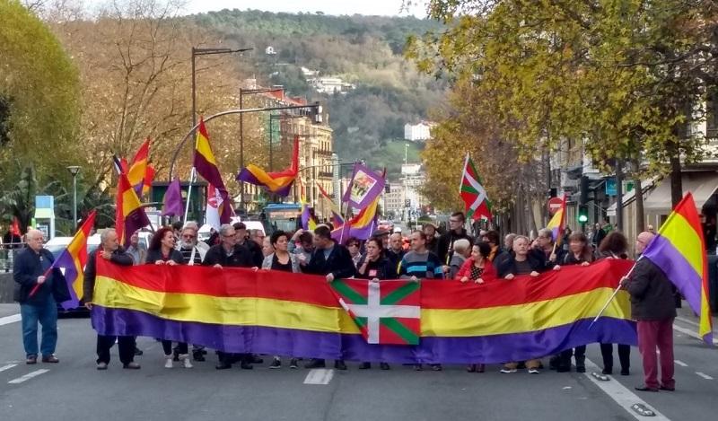 Manifestación a favor de la República, en Donostia. Foto: David San Martín.