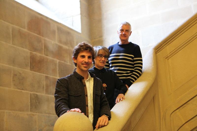 El concejal de Cultura Jon Insausti, la directora del Museo Susana Soto y Jaime Otamendi, de Donostia Kultura. Foto: Rubén Sainz