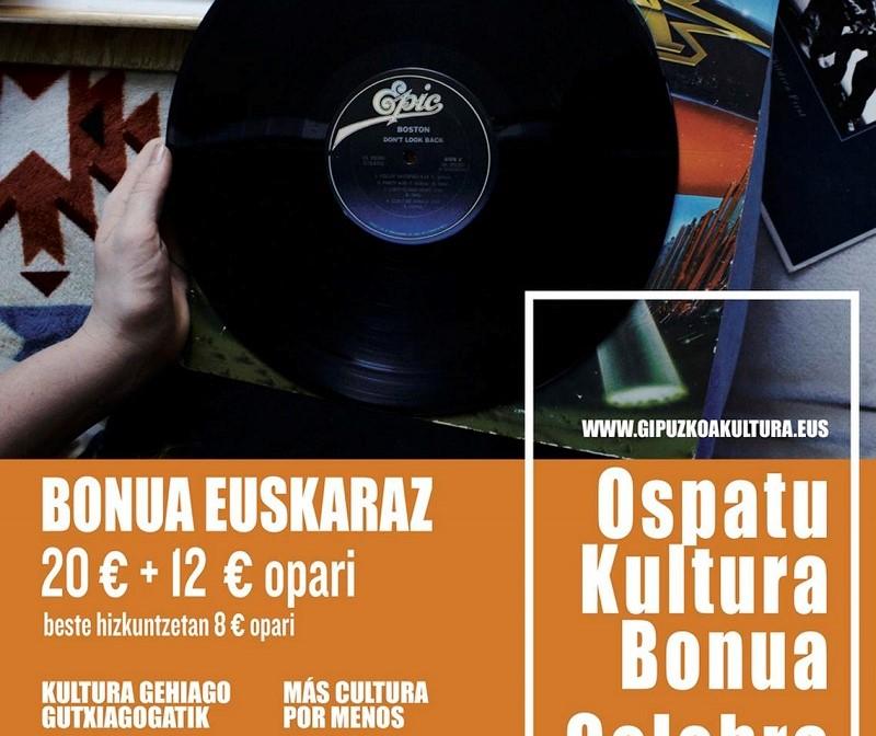 Cartel promocional de Bono Cultura. Foto: Diputación.