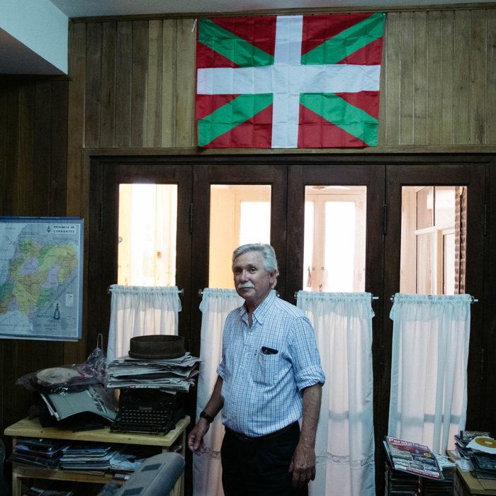 Dimas Güenaga, en su casa de Curuzú. Foto: Santiago Farizano