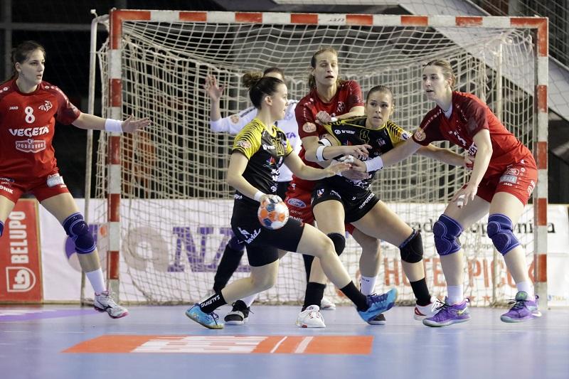 Podravka Vegeta-Bera Bera, en la Copa EHF. Foto: Super Amara Bera Bera.