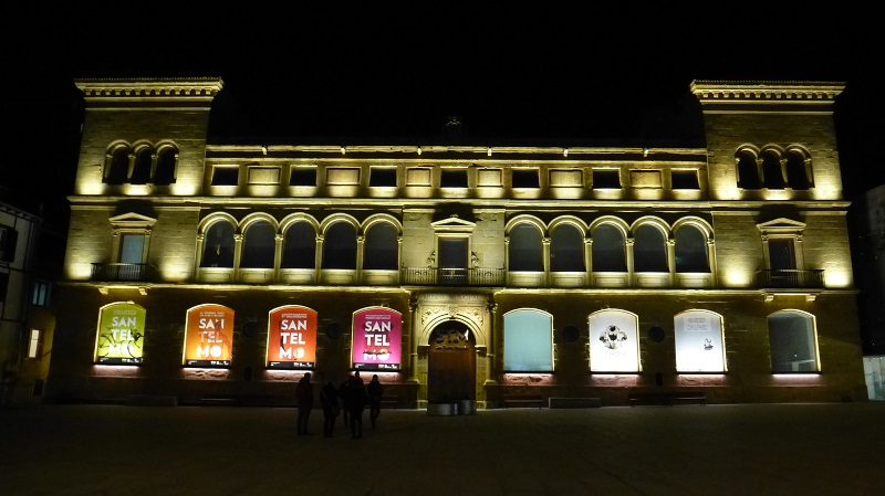 El Museo San Telmo de noche. Foto: Donostia Kultura.