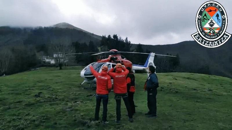 Foto de archivo del helicóptero de la Ertzaintza. Foto: Ertzaintza