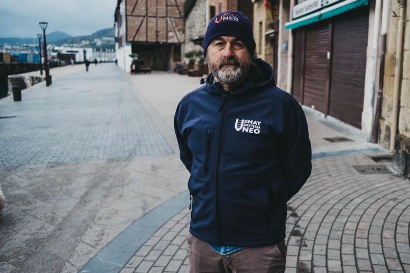 Iñigo Gutiérrez, voluntario de SMH. Foto: Santiago Farizano.