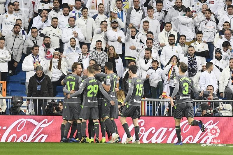 Victoria de la Real Sociedad en el Santiago Bernabéu. Foto: LFP.
