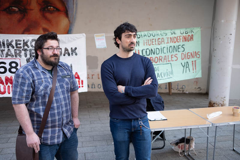 Empleados de Ubik en huelga. Foto: Santiago Farizano
