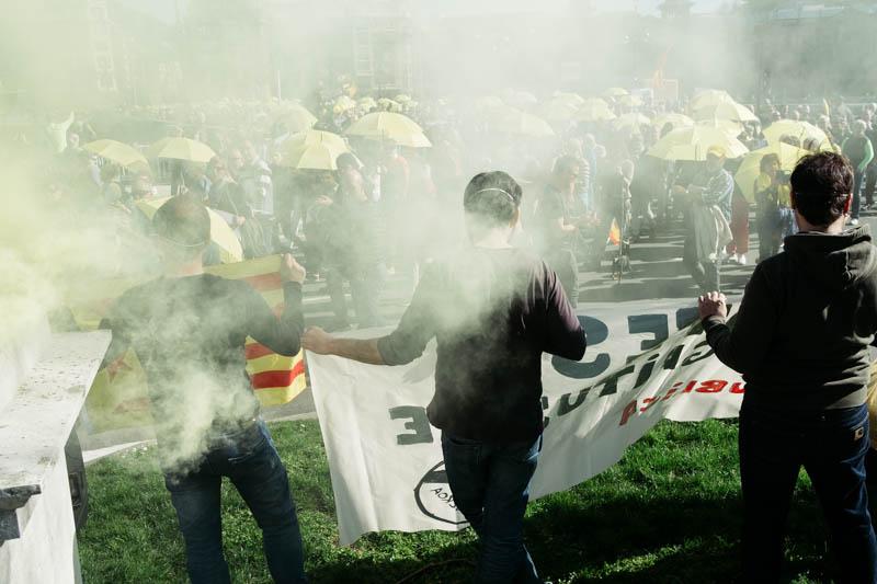 Manifestación de Gure Esku Dago en apoyo de los procesados en Cataluña. Fotos: Santiago Farizano
