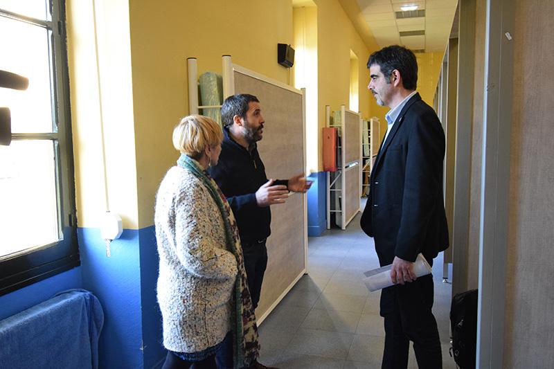 Visita del alcalde Eneko Goia al Aterpe de Zorroaga en febrero. Foto: Ayto.