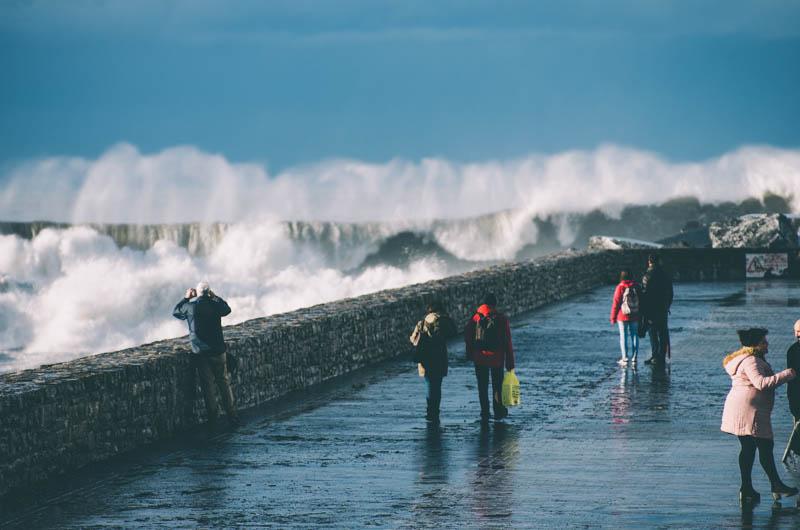 El temporal Helena en Donostia el 1 de febrero. Foto: Santiago Farizano