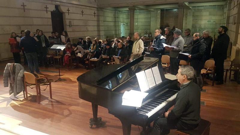 Ensayo del coro. Foto: Opus Lirica