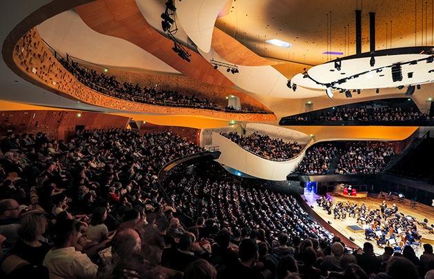 Sala Philharmonie de París. Foto: es.parisinfo.com.