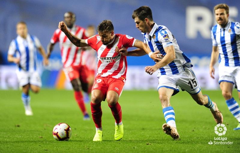 El Real-Girona de la primera vuelta terminó sin goles. Foto: LFP.