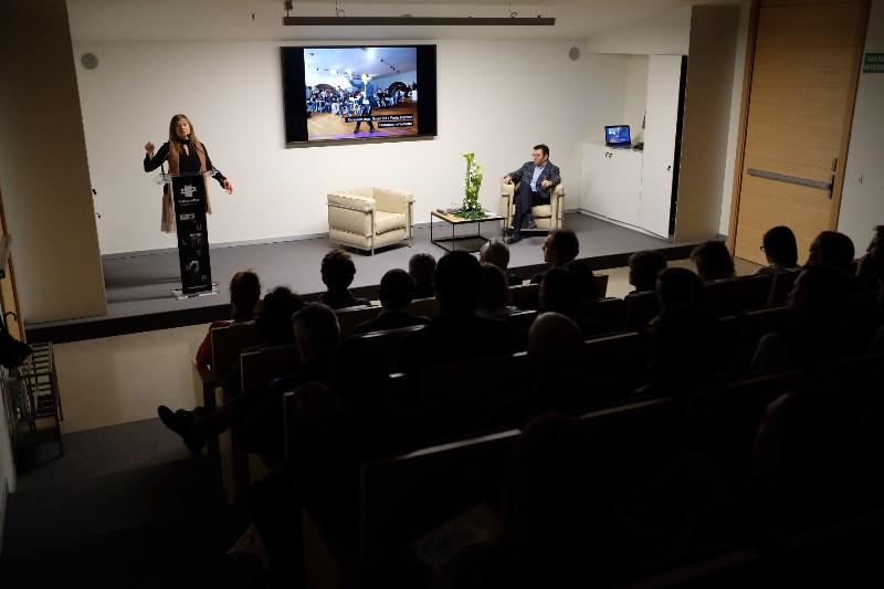 Encuentro de los emprendedores de Kutxa Kultur Enea con empresas y organismos públicos. Fotos: Santiago Farizano.