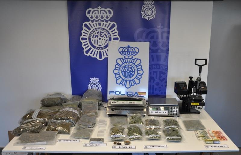 Droga encontrada en Aia. Foto: Policía Nacional