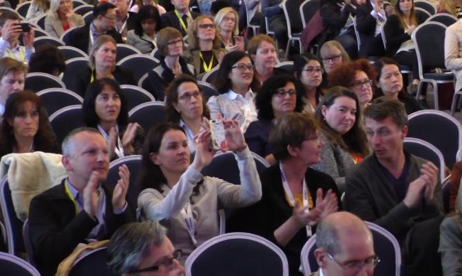 Asistentes al mismo congreso de las mismas características, celebrado el año pasado en Dublín. Foto: IFIC.