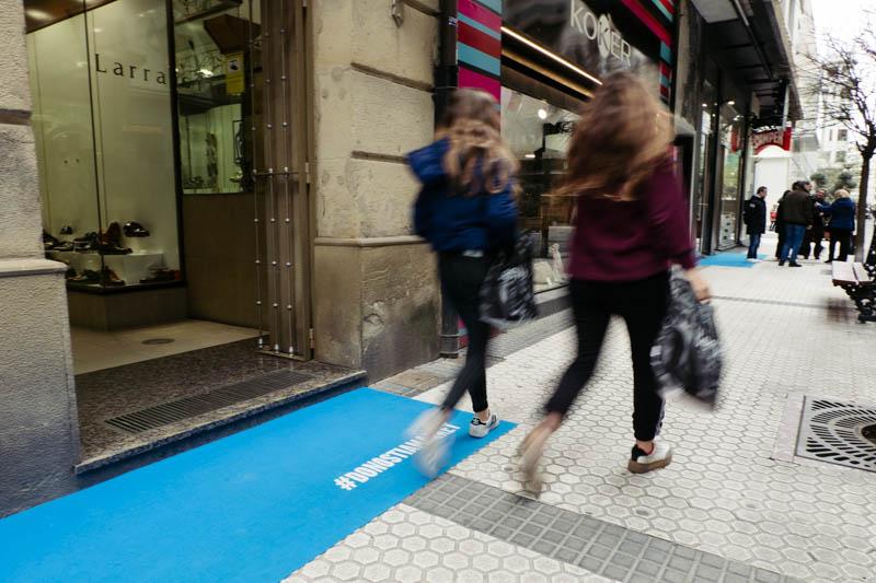 Imagen de comercios durante el #DonostiaMarket. Foto: Santiago Farizano