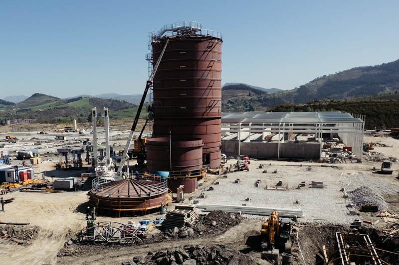 Segunda fase de las obras que constan de una planta de biometanización y otra de maduración de escorias. Foto: Santiago Farizano