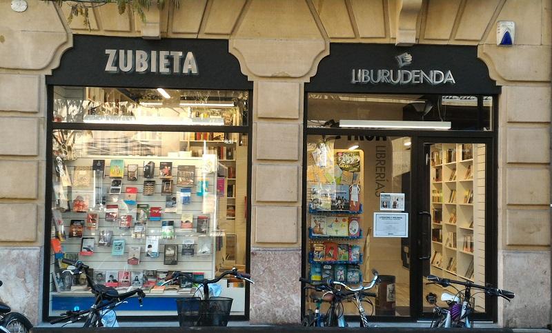 La librería Zubieta, en su ubicación actual de Reyes Católicos.