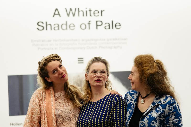Las tres fotógrafas protagonistas de la exposición en Artegunea. Fotos: Santiago Farizano