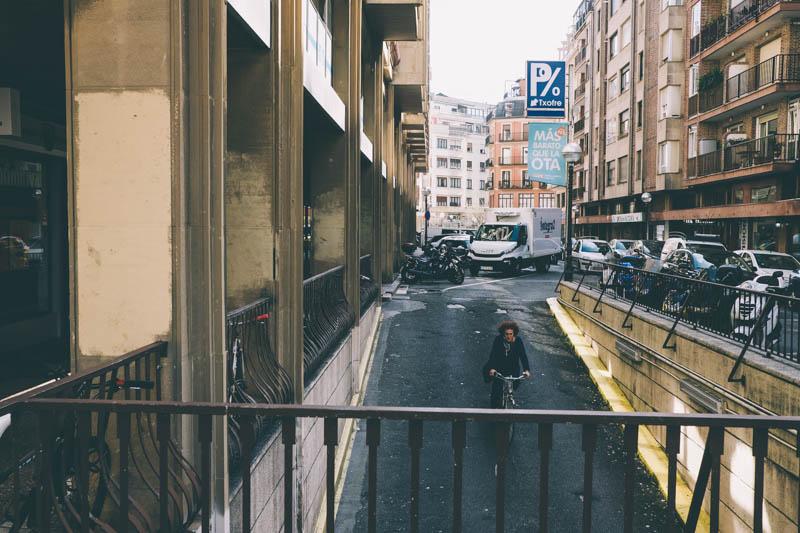 Entrada al aparcamiento del Txofre. Fotos: Santiago Farizano