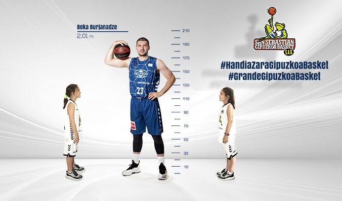 Cartel de la campaña #GrandeGipuzkoaBasket. Foto: GBC.