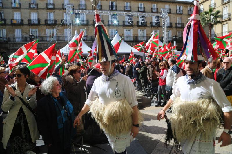 Celebración jeltzale del Aberri Eguna el pasado año. Foto: EAJ/PNV