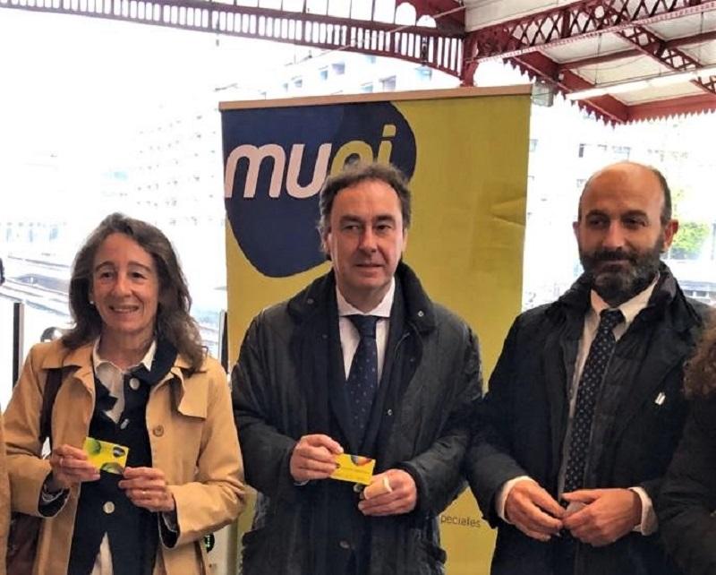 Presentación de nuevas tarifas de MUGI y la integración de Renfe, en la Estación del Norte. Foto: Gipuzkoa Movilidad (vía Twitter).