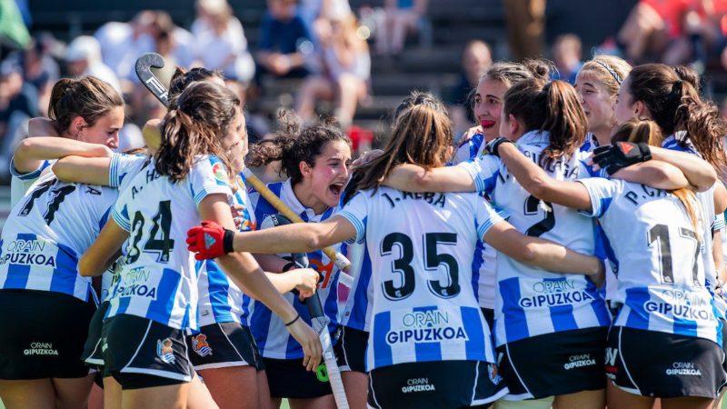 Las chicas del hockey hierba, subcampeonas. Foto: Real Sociedad