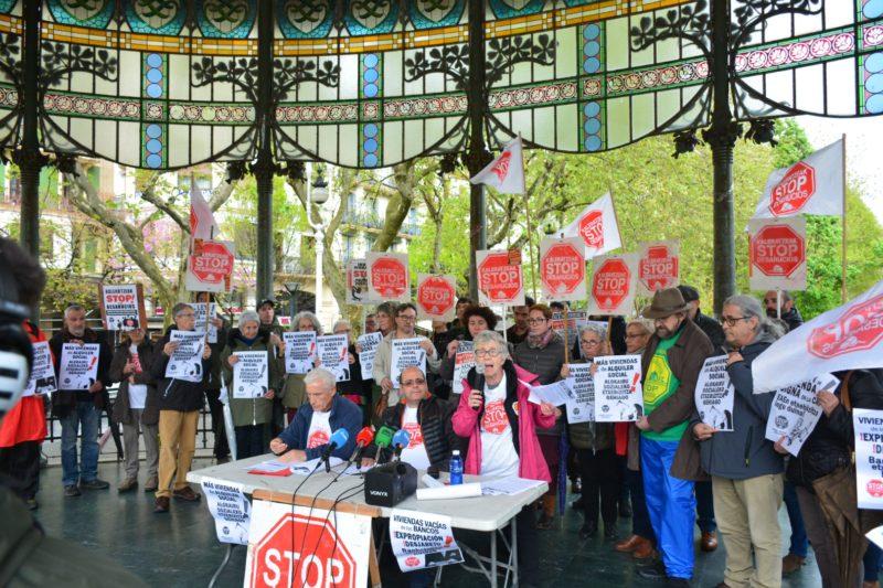 Imagen de archivo de Stop Desahucios. Foto: Donostitik