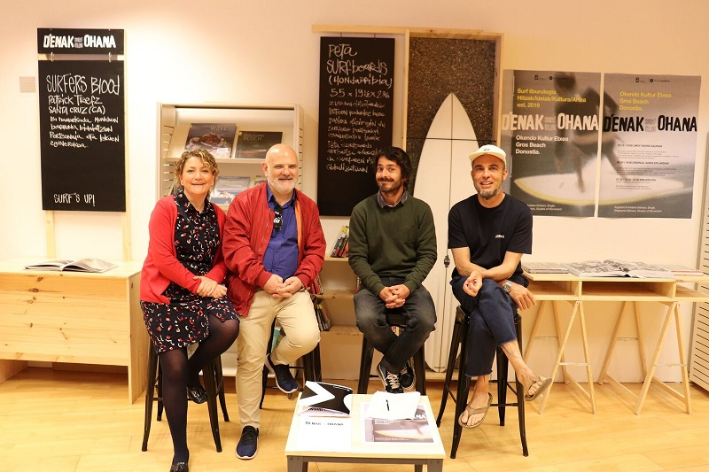 Presentación de D'enak Ohana Surf Club en Okendo KE. Fotos: Donostia Kultura