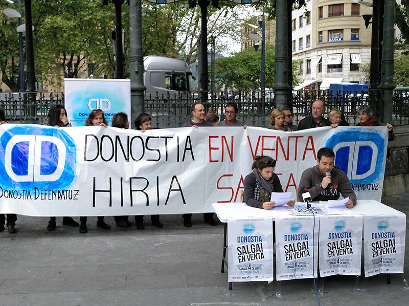 Rueda de prensa de Donostia Defendatuz.