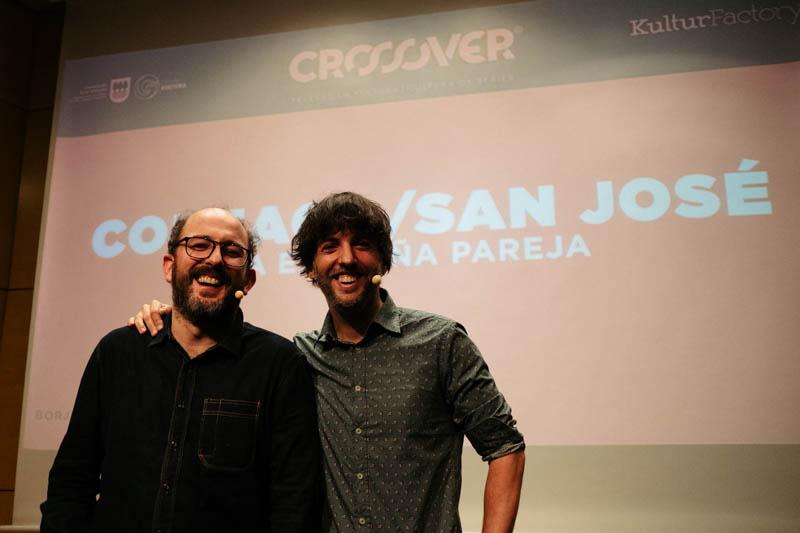 Borja Cobeaga y Diego San José en Crossover. Fotos: Santiago Farizano
