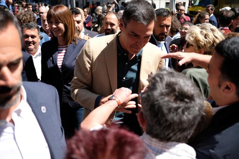 Pedro Sánchez hoy en Donostia. Fotos: Santiago Farizano