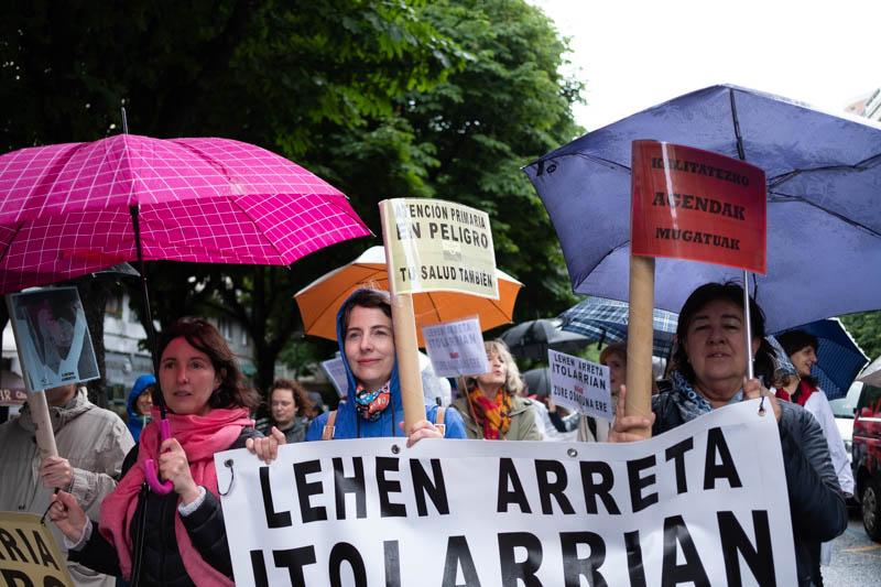 Marcha de la Atención Primaria en Donostia. Fotos: Santiago Farizano